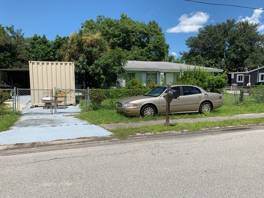 Police found the body of an unidentified man in the carport of a home at 3025 Dunbar Avenue, Monday.