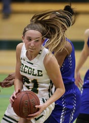 Green Bay Preble's Carley Duffney (21) has committed to the University of South Dakota.