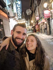 "Zach and Elaina Jindra, shown here in Madrid, will be featured on HGTV's ""House Hunters International"" airing at 9:30 p.m. Sept. 10. Zach is from Green Bay, and Elaina is from Fond du Lac."