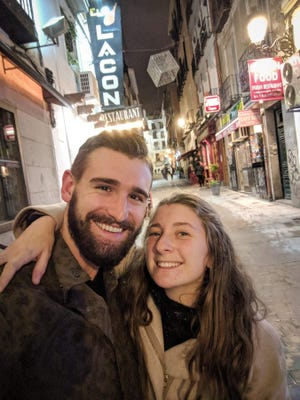 """Zach and Elaina Jindra, shown here in Madrid, will be featured on HGTV's """"House Hunters International"""" airing at 9:30 p.m. Sept. 10. Zach is from Green Bay, and Elaina is from Fond du Lac."""