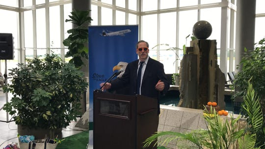County Executive Troy Streckenbach thanked Frontier Airlines for investing in Green Bay Austin Straubel International Airport by deciding to add flights between Green Bay and Orlando beginning in November.