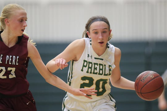 Green Bay Preble's Carley Duffney averaged 17.6 points, 4.8 assists and 2.3 steals as a sophomore.