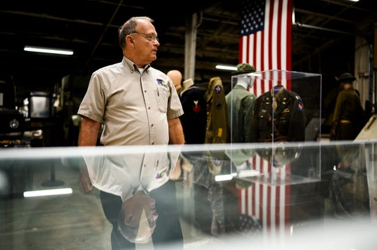 Wayne Scholtes gives a tour of the U.S. Military History Museum & Education Center Tuesday, Sept. 10, 2019.