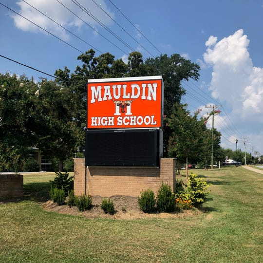 The Mauldin High School sign on East Butler Road is pictured on Sept. 10, 2019.