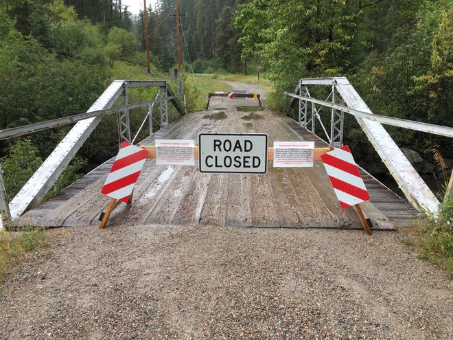 The Harley Creek Bridge in Neihart is closed following an inspection that turned up deficiencies.