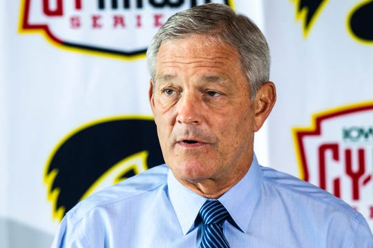Kirk Ferentz addresses the media ahead of his 30th Cy-Hawk game. He coached in nine as a Hawkeye assistant (1981 to 1989); Saturday will mark his 21st as a head coach.