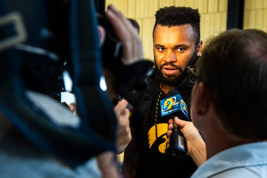 """Linebacker Djimon Colbert is glad that the """"wild stuff"""" is happening in Ames, and not Iowa City, this week."""