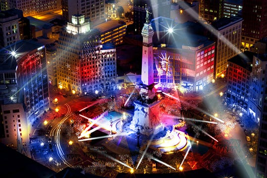 """Shining a Light in Indianapolis"" is an initiative to bring programs, events, videos and more to Monument Circle."