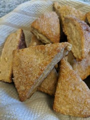 Scones are similar to biscuits, but made with sweeter ingredients.