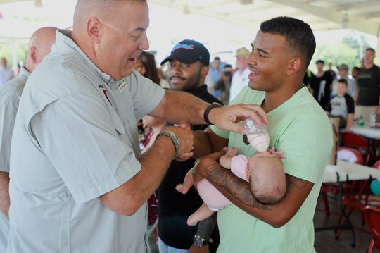 Jackson's 194th Engineer Brigade held its annual Family Fun Day. This year, the military unit is deploying overseas.