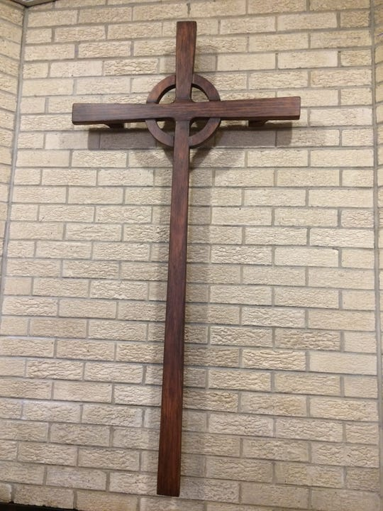A special cross from New Hope has been put in the sanctuary.