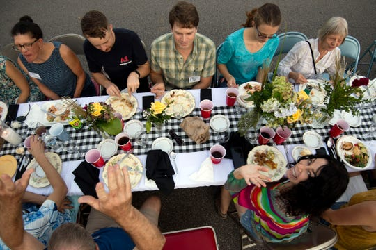 More than 100 guests participated in the Historic Fourth and Gill Neighborhood Organization's long table potluck on Luttrell Street on Sunday, Sept. 8, 2019.