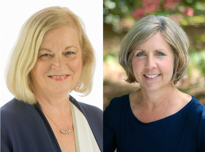 Joyce Linde (left) and current council member Nanette Cook (right) are both running to represent District 4 on Lafayette's new city council in this fall's election.