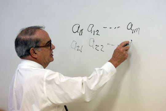 Former UL President Ray Authement would teach Linear Algebra during his time at UL.