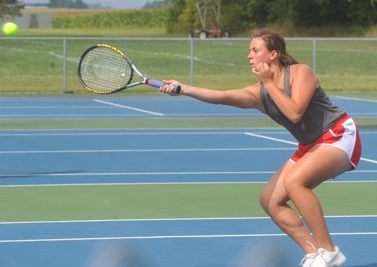 Shelby's Anna Vogt has been a big part of the Whippets' success, playing No. 1 doubles with Madison Sharrock.