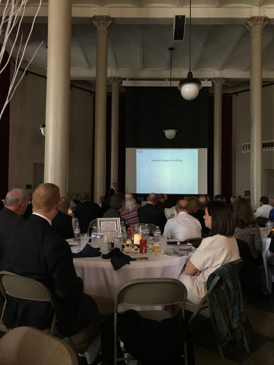 Michael Gray was the speaker at the annual METRICH luncheon Tuesday at the Ohio State Reformatory. His daughter Amanda was killed by a poisoning of straight fentanyl on Jan. 11, 2018.