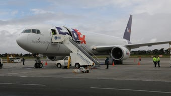 FedEx says more than 6 million pounds of perishables, like flowers, come out of Latin America daily.