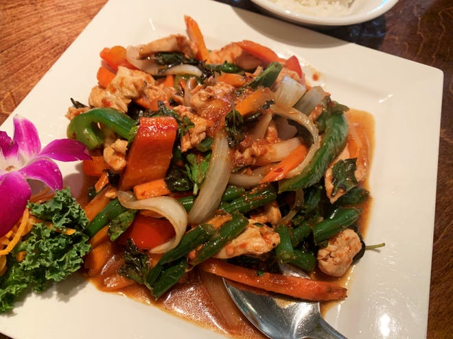 Basil chicken from Sushi Thai by KJ.