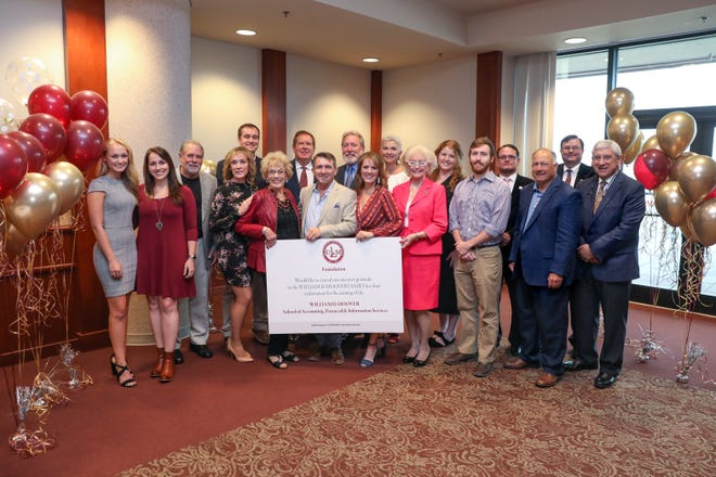 In honor of William D. Hoover's memory, the Hoover Family created a $1 million endowment. Because of this generous donation, the University of Louisiana Monroe and ULM Foundation formally announced the naming of the William D. Hoover School of Accounting, Financial and Information Services in the College of Business and Social Sciences Monday afternoon in the Terrace of the Library.