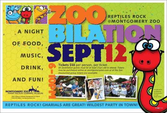 Zoobilation takes place Thursday at the Montgomery Zoo.