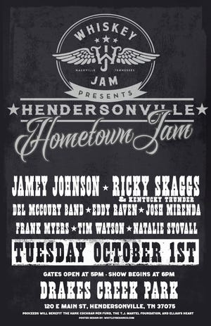 A free concert will take place Oct. 1 in Hendersonville.