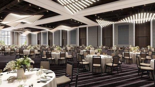 A rendering of the Grand Hyatt Nashville Grand Ballroom.