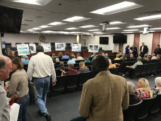 The U.S. Army Corps of Engineers presented its alternative plans to protect Collier coastlines during a public meeting Monday, Sept. 9, 2019.