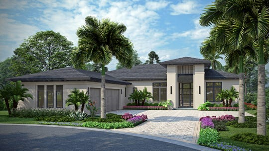 London Bay Homes' 3,527 square feet under air Pembrook model in Caminetto at Mediterra is scheduled for completion by October 14th.