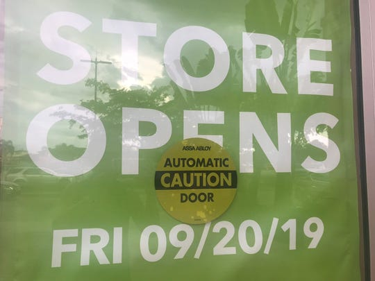 Sharp-eyed editor Maryann Batlle came across this sign outside the Joann Fabrics that debuts next week in Estero.