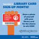 September is the time to sign up for a free library card