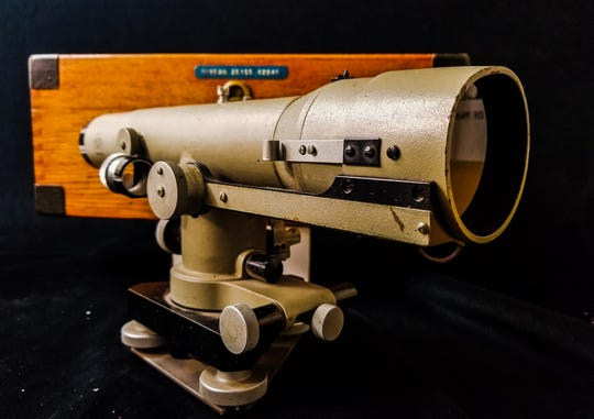 Vintage hydrographic and surveying instruments like this Zeiss telescope can be bought for a fraction of new.