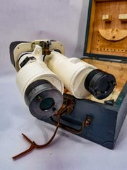 Unusual designs such as this hermetically sealed French naval binocular are collector favorites.