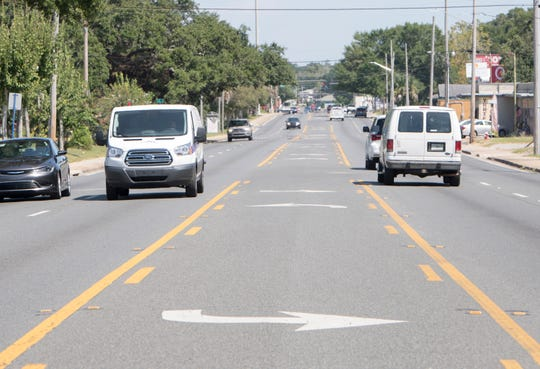 According to the FDOT's proposed plans for pedestrian safety improvements along Cervantes Street, the turn lane would be converted into a median, complete with fencing to prevent mid-street crossings in West Pensacola and Brownsville.