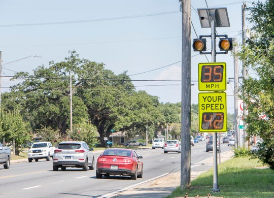 """Your Speed"" indicators have already been installed along Cervantes Street to help improve pedestrian safety in West Pensacola."