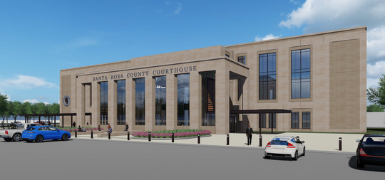 New renderings show what the Santa Rosa County courthouse could look like once complete.