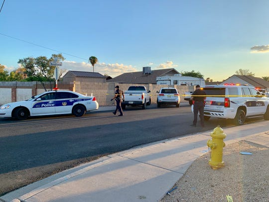 Phoenix police were at the scene of a police shooting on Sept. 9. 2019, at 43rd Avenue and Thunderbird Road.