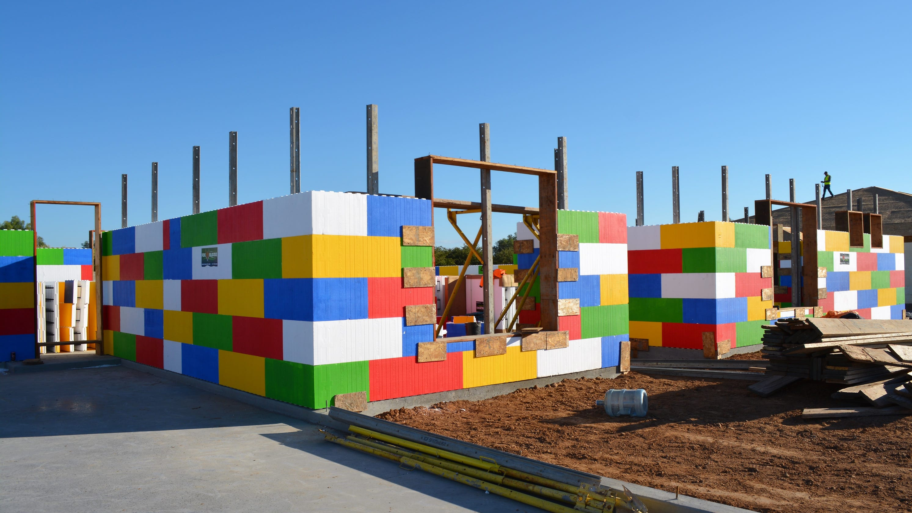 Lego-like house in Waddell nears completion