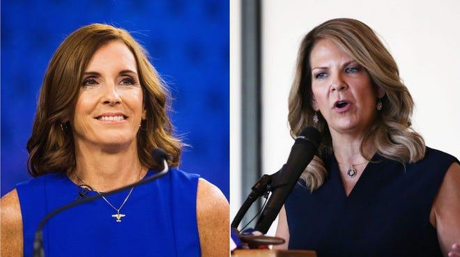 Sen. Martha McSally and Arizona GOP Chairwoman Kelli Ward