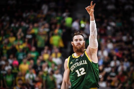 New Suns center Aron Baynes shot 34.4% from behind the Arc last season with the Celtics.