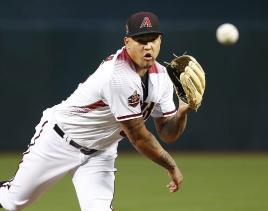 Arizona Diamondbacks starting pitcher Taijuan Walker (99) was supposed to return mid-season but has not thrown a pitch in a game in 2019.