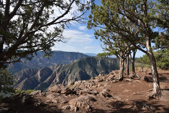 Sycamore Point sits above Sycamore Canyon Wilderness.