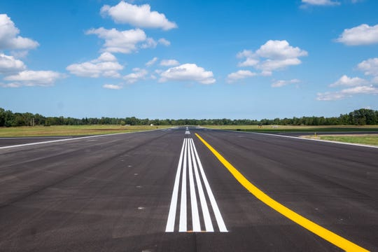 Runway 4/22 at St. Clair County International Airport was repaved as part of a round of improvements that were funded through federal and state grants from the Federal Aviation Administration and the Michigan Department of Transportation Office of Aeronautics.