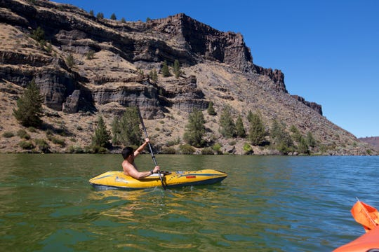 Lake Billy Chinook is most popular with motorboats, but kayaking is also popular .