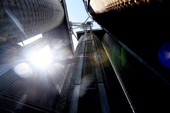 The grain elevator where Ross Lynn died.