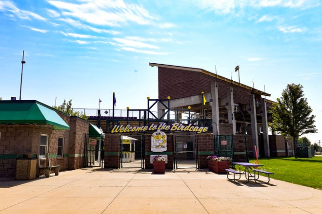 Sioux Falls Stadium, also known as the Birdcage, stands empty after baseball season ends on Tuesday, September 10.