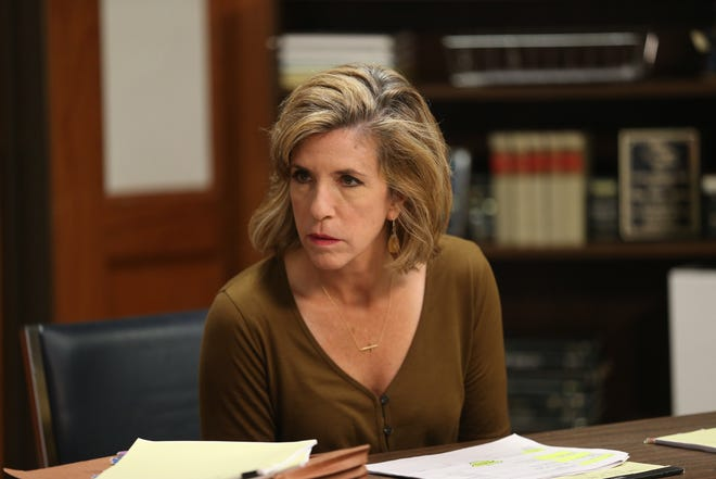 """Kelly Siegler is shown in a """"Cold Justice"""" publicity photograph distributed by Oxygen."""