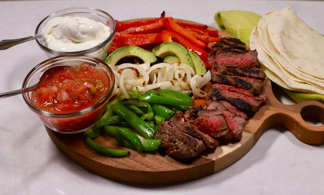 Fajitas are easy and fast, whether cooked in a skillet or on the grill.
