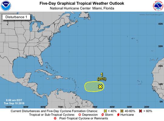 Tropics 8 a.m. Sept. 10, 2019