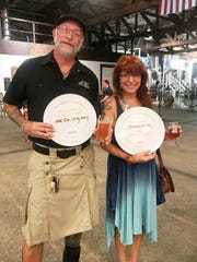 Rick Norry and Linda Moore at Walking Tree Brewery in Vero Beach for the 2018 Hops Against Hunger benefit for Treasure Coast Food Bank.