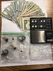 Various narcotics and cash proceeds seized during a search warrant in Camarillo on Thursday.